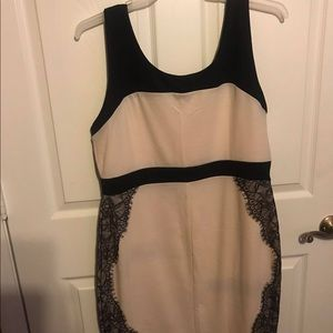 New Women plus size dress size 2X cream/black lace